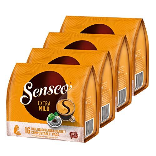 Senseo Kaffeepads Extra Mild, Rund & Aromatisch, Kaffee, 4er Pack, 4 x 16 Pads