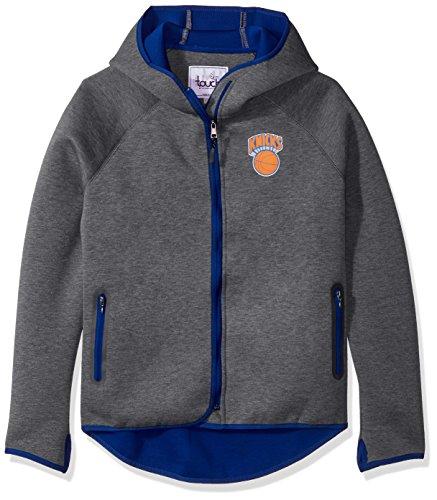 Touch by Alyssa Milano NBA New York Knicks Drop Kick Jacket, Large, Heather Grey image