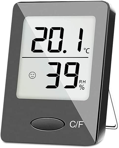 SXCD 数字湿度计室内温度计湿度计指示房间温度计精确温度湿度监测仪家用办公室温室迷你湿度计