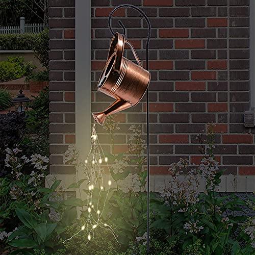 YLSZHY Regadera de jardín con luces LED, cascada, impermeable, solar, para jardín, decoración de fiestas al aire libre, patio