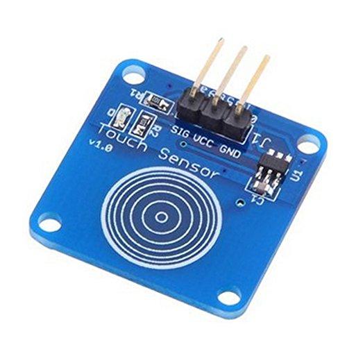 HALJIA, sensore touch digitale capacitivo di tipo jog, sensore interruttore Compatibile con Arduino Uno, Due, Mega