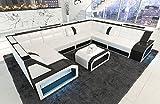 Sofá esquinero PESARO Cuero Conjunto de Muebles Para Salón