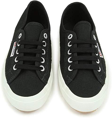 Superga Unisex-Erwachsene Classic Sneaker Low-Top 2750 Cotu Classic, Schwarz (F83), 39 EU