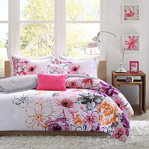 4 Piece Floral Girls Bedding Comforter Set $37.60 (52% OFF Deal)