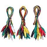 30 Piezas Cables de Prueba con Clip Cocodrilo, 19,7 Pulgadas
