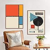 EDGIFT2 Bauhaus Arte Astratta Stampe Poster Moderno e Minimalista fuhrend in der herrenmode Arte Pittura su Tela Immagine Parete Home Decor Art 50x70 cm Senza Cornice