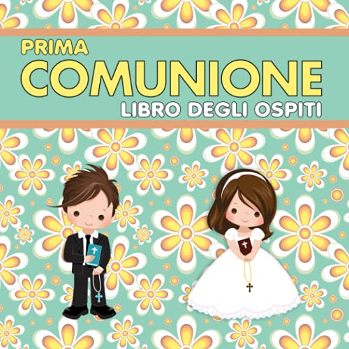 Prima Comunione Libro Degli Ospiti: Regalo comunione | Guest book |Libro prima comunione per firme, dediche e ricordi