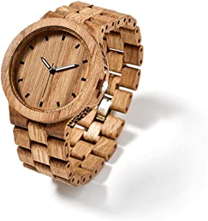 InovaDesign - WOODLANS Classic Wood, Reloj de Pulsera, Reloj Hecho a Mano, Reloj de Madera Hecho a Mano, Idea de Regalo, InovaDesign