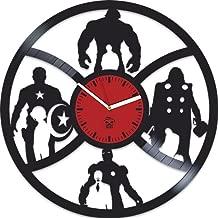 Kovides The Avengers Clock, Earth's Mightiest Heroes, Iron Man, Hulk, Vinyl Wall Clock, Comics Marvel DC Movie, Vinyl Wall Clock, Silent Mechanism, Wall Sticker, Home Decor