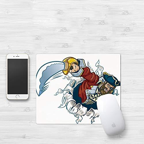 Comfortable Mouse Pad 320x250 mm,Pirata, Cartoon Corsair Buccaneer arranca del efecto de,Gaming...