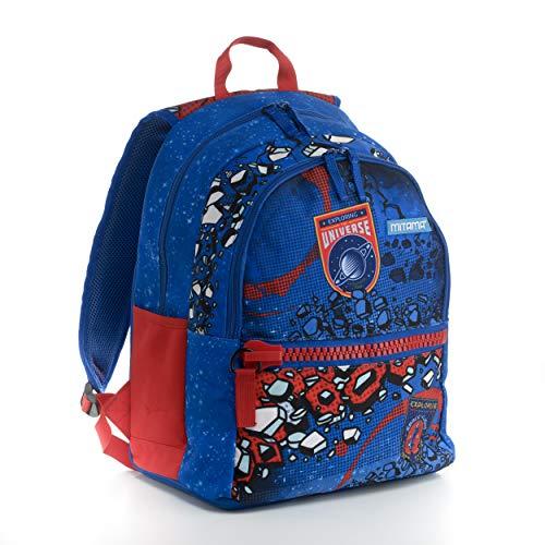 Zaino Mitama Plus Space - multicolore, 26 LT, Leggero e robusto, megazip, doppio scomparto, scuola elementare