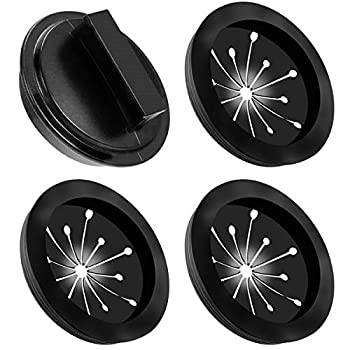 Garbage Disposal Splash Guards and Stopper Set 4 Pack(3+1  Topspeeder Food Waste Disposer Accessories Multi-function Drain Plugs Splash Guards for Whirlaway Waste King Sinkmaster and GE Models