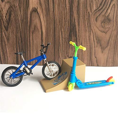 Finger Skateboards, Mini Dedo Dos Ruedas Scooters Mini Bicicletas Conjunto Dedo Skateboards Rampa, Niños Juguetes Educativos Niños Niño Niños Regalos