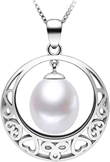 Fine Jewelry Women Gifts 925 Sterling Silver Freshwater Cultured Teardrop White Pearl Pendant Necklace