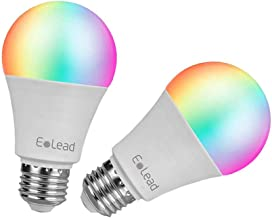 ELEAD Smart WiFi RGBCW LED Light Bulb 10W 100W Equivalent Compatible with Alexa Google Home Dimmable Color Changing E27 Br...