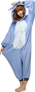 Baymate Unisex Adult Pajamas Homewear Onepiece Cosplay Costume Loungewear Stitch