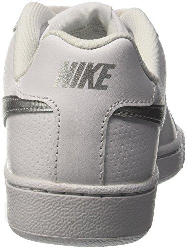 Nike Wmns Nike Court Royale, Women's Tennis Shoes, White (White/Metallic Silver 100), 6.5 UK (40.5 EU)
