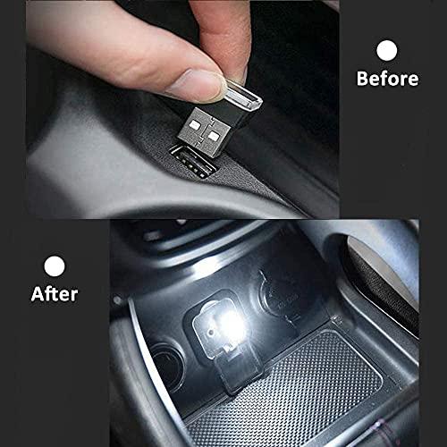 LT Sport 2Pack USB LED Car Interior Light Atmosphere Lamp Interface Plug-in Miniature Night