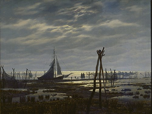 Artland Alte Meister Kunst Wandtattoo Caspar David Friedrich Bilder Romantik 45 x 60 cm Sumpfiger...