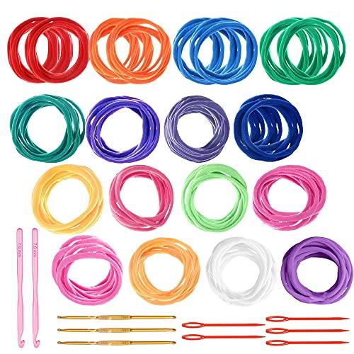 Allazone 298 Pz Anelli per Presine per Telaio, 12 Colore Loom Potholder Loops per Tessitura Tessitura Artigianale Regali Fatti a Mano Compatibile con Il Telaio per Tessitura da 7 Pollici
