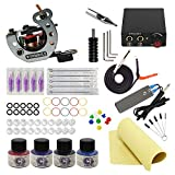 Wormhole Tattoo Maschine Set komplett 1 Tattoo Maschine 1 Tattoo Netzteil 5 Tattoo Nadel 4 Tattoo...