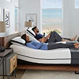 Ananda 12' Cal King Split Pearl and Cool Gel Infused Memory Foam Mattress with Premium Adjustable Bed Frame Combo, Head Tilt, Alexa Voice Command, Massage, USB, Zero Gravity,Anti-Snore