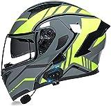 Motorbike Helmet Cascos modulares para motocicleta Certificación Bluetooth DOT Cascos giratorios abatibles Altavoz incorporado Auriculares Bluetooth con micrófono para respuesta automática iEvery0
