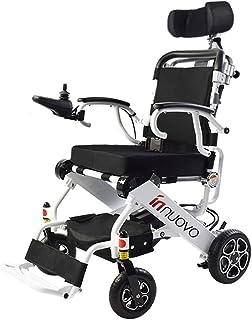silla de ruedas eléctrica eléctrica Ligera Plegable pequeña Movilidad Manual para Adultos Personas discapacitadas (2 baterías + 2 Motores)