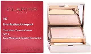 Clarins Everlasting Compact Face Foundation SPF 9, 107 Beige, 10 gm
