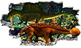 Wall Stickers Dinosaurs Jungle Cool Scary 3D Wall Stickers Kids Rooms Nursery Decor Wall Decals Murals Peel and Stick for Girls Boys Baby BB973(Huge (175x100cm))