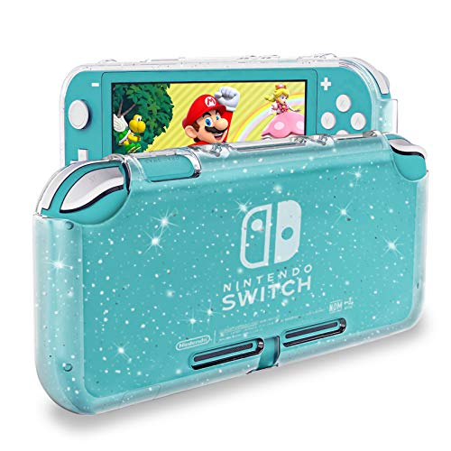 DLseego Protective Case Compatible with Nintendo Switch Lite , Glitter Bling Soft TPU Cover with Shock-Absorption and Anti-Scratch Design Protective Case - Crystal Glitter