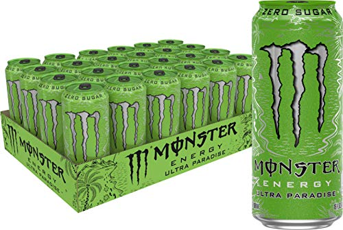 Monster Energy Ultra Paradise, Sugar Free Energy Drink, 16 Ounce (Pack of 24)