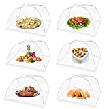 (6PCS) Large Pop Up Mesh Screen Food Cover for Outdoors,17x17Inches Food Tents Umbrella for Picnics, BBQ, Party, Camping & Outdoor Cooking,Collapsible and Reusable