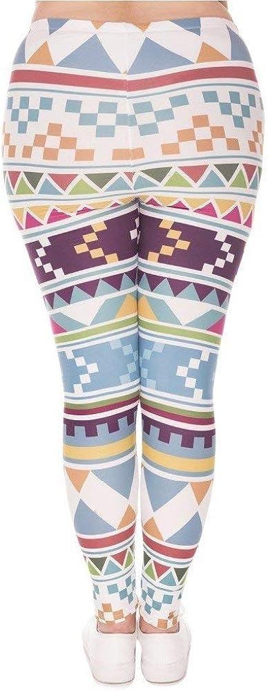 Targogo Pantalons De Yoga Mode Femmes Leggings Morski Imprimer Ocasional Aztec Stretch Taille Haute Plus Pantalon Pantalon Dodue Femmes Lgd45742