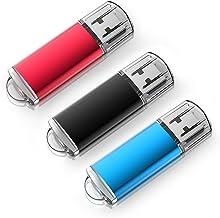 USB Flash Drive 16 GB 3 Pack, K&ZZ Memory Stick Thumb Drives Gig Stick USB2.0 Pen Drive for Fold Digital Data Storage(3Pcs...