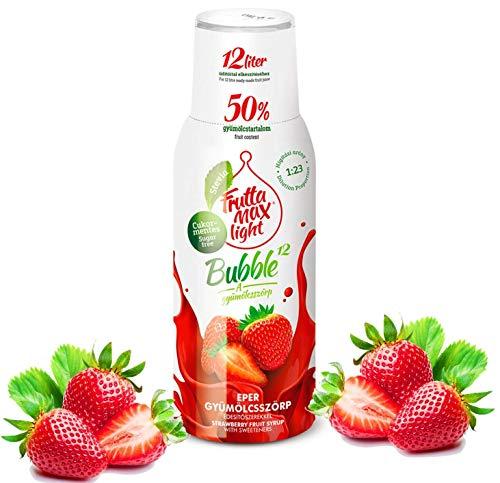 Light Low-Carb Fitness-Sirup von Frutta Max Getränkesirup | Ohne-Zucker | mit Stevia | 50% Fruchtanteil 500ml (Erdbeere)