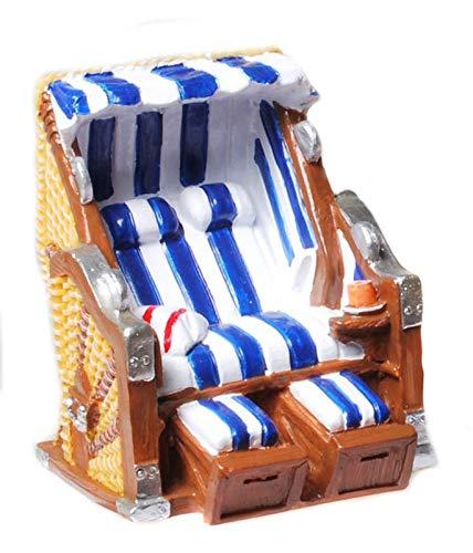 Kremers-Schatzkiste Strandkorb blau weiß 6 cm Figur Deko Urlaub Ferien Ostsee