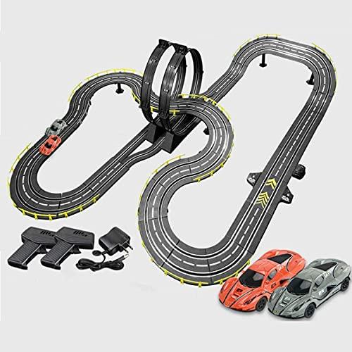 N&G Decoración para el hogar 8M Track Racing Set Slot Cars Modelo Pista de Empalme R/C Pista de Control Remoto de Alta Velocidad para niños y niñas Regalos de cumpleaños de Navidad (Color: Eléctrico