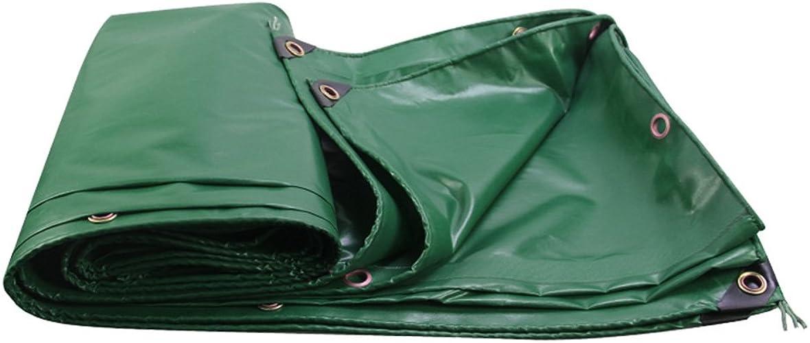 Bache HUO Forte pour Le Tissu De Couverture De Cargaison De Camion, Tissu Anti-UV Imperméable Durable Enduit, 450g   M2 (Couleur   Vert, Taille   4  6m)