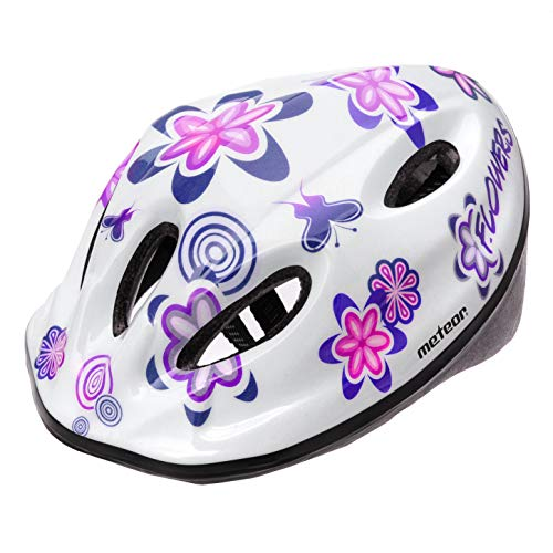 Fahrradhelm Bebe Helm Fahrrad Radfahren für Kinder - Helme für Kinder - Fahrradhelm für Roller Radfahren Mountain BMX Road Skate Skateboards Skateboards (S (48-52 cm), MV5-2 Flower)