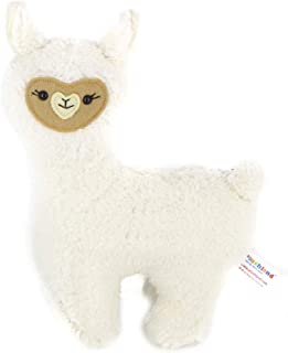 Plushland Marshmella the Llama Alpaca 10 Inches Plush Stuffed Animal Toy for Babies Cute Present for Holidays Birthday Valentine Day ADHD Autism Back to School White Handmade Present Gift Pressure Toy