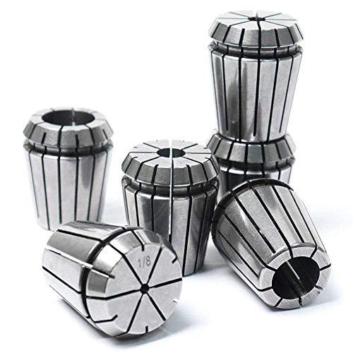 XUSHEN-HU ER32 Milling Torno Collets CNC Chuck Set,1/4', 1/2', 3/4', 1/8', 3/8', 5/8' (todos los tamaños, 6pcs) Herramientas
