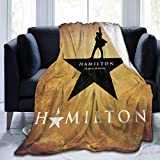 Hamilton 3D Printing Soft Micro Fleece Blanket Home Decor Warm Anti-Pilling Flannel Throw Blanket for Couch Bed Sofa (Color5, Medium 60inx50in)