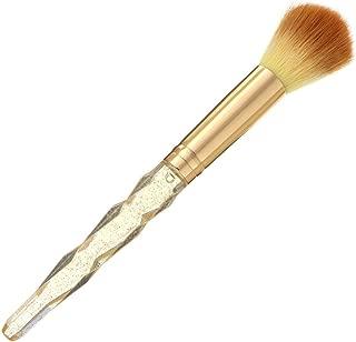ZeroZ Nail Art Dust Brush Powder Cleaner Polish Remover for Acrylic Nails Makeup Soft Brushes Gold