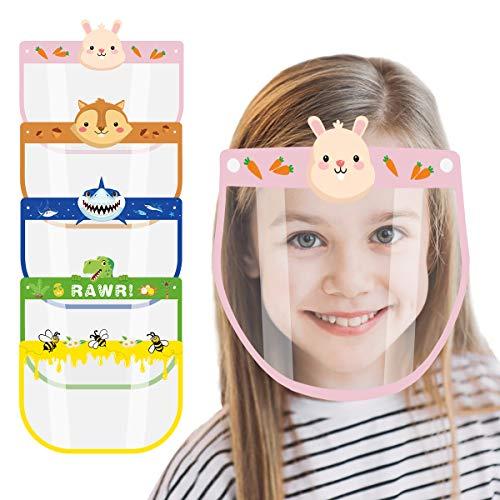 Happy Cherry Trasparente Visiera Parasole Per Bambini A prova di polvere Cover con Banda Elastica Protezione Fascia Protettiva per Con Cappuccio