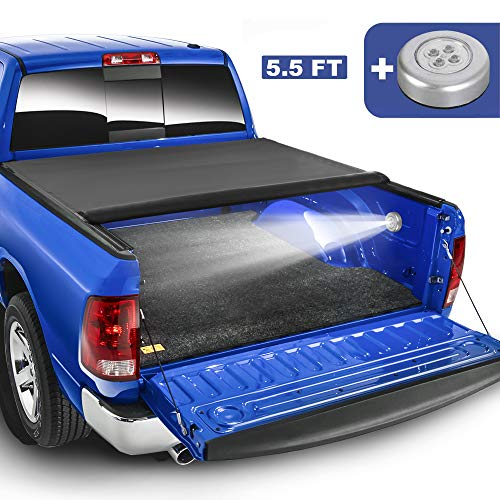 MOSTPLUS Roll-Up Soft Vinyl Truck Bed Tonneau Cover Compatible for 2009-2020 Ford F150 F-150 Short Bed On Top (5.5 FT Feed Bed)