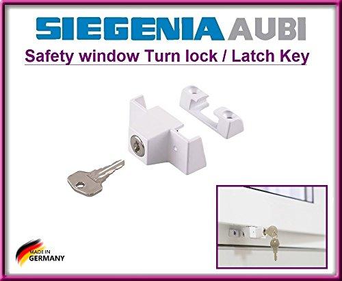 SIEGENIA 880906 Sicherheitsfensterverriegelung 2 W 145 (mit 4 Befestigungsschrauben).