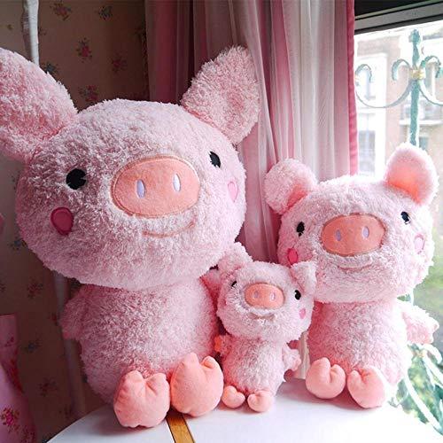Weilaijaiju Muñeca de peluche de dibujos animados muñeca de felpa Super Sweet Piggy para seguir el regalo de novia (color 45 cm)