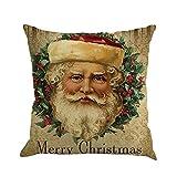MERICAL Schlafsofa Home Decor Weihnachten Druck Färben Kissenbezug Kissen