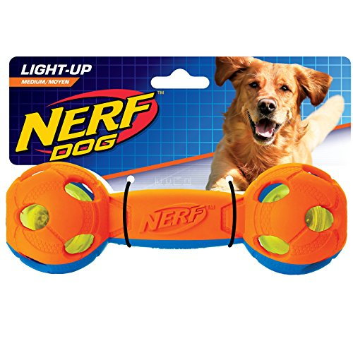 Nerf Dog VP6790E LED Hantel, zweifarbig Orange/Blau, M